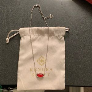 Kendra Scott ruby birthstone necklace